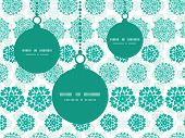 Vector abstract green decorative circles stars striped Christmas ornaments silhouettes pattern frame