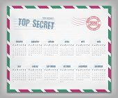Calendar With Postal Envelope On 2016 In Vector