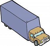 Single Cartoon Truck