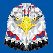 American Eagle With Geometric Pattern Vector
