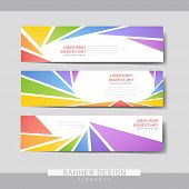 Colorful Banner Brochure Template Design