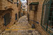 The Old Narrow Streets Of Jaffa. Tel Aviv, Israel.