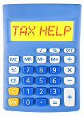 Calculator With Tax Help On Display