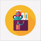 Shopping Present Flat Icon With Long Shadow,eps10