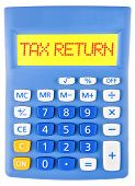 Calculator With Tax Return On Display