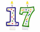 Birthday Candles Number Seventeen