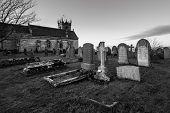 Church in cemetery