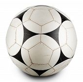 Round Leather black and white ball