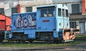old abandoned trains at depot in Brno