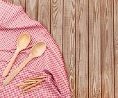 Two Wooden Spoons On Wooden Planks