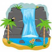 Waterfall in tropic
