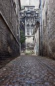 Paved street to medieval cathedral