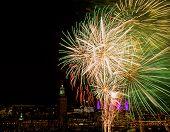 Fireworks over Stockholm.