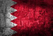 Grungy of Bahrain flag on dirty paper