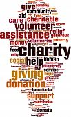 stock photo of word charity  - Charity word cloud concept - JPG