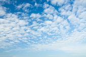 Blue Sky Background With A White Clouds