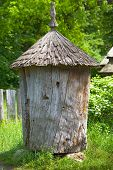 Ancient Wooden Beehive