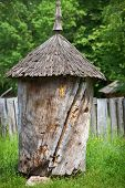 Ancient Old Wooden Beehive