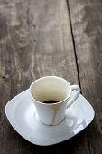 Empty Cup Of Espresso