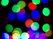 Colorful Christmas Abstract Background Lights, Defocused, Blur, Bokeh