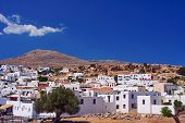 Buildings village of Lindos