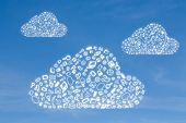 Business Icon In Form Cloud