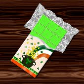 Saint Patrick green chocolate - computer generated graphic