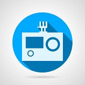 Flat vector icon for action camera