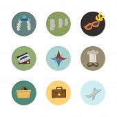 Vector travel icons set. Part 2.