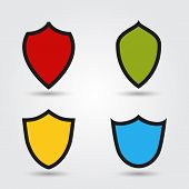 Vector set of modern shields.