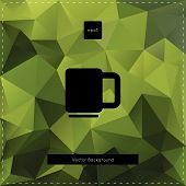 Green tea polygonal background.