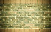 Red Brown Brick Wall As Texture Or Background. .