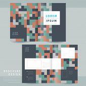 Creative Geometric Half-fold Brochure Template