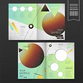 Geometrical Half-fold Brochure Template