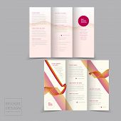 Tri-fold Brochure Design Templates With Dynamic Wave
