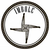 stock photo of wiccan  - Symbol of the holiday celebrated Imbolc Ireland Scotland Isle of Man and so on - JPG