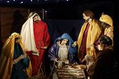 Nativity Scene Stabl Mary Birth Of Jesus Christmas