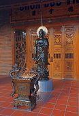 Amitabha Buddha Statue In Temple