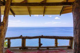 foto of incredible  - Terrace with incredible view on the sea thailand krabi lanta - JPG