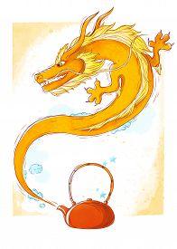 picture of cheeky  - Cheeky orange dragon - JPG