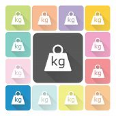 picture of weight lifter  - Weight Icon color set vector illustration  - JPG