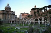 picture of senators  - view of Senate House of Julius and ancient Mamertine Prison in Rome Italy