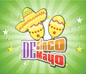 stock photo of maracas  - Cinco De Mayo design element vector illustration - JPG