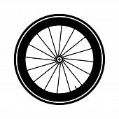 stock photo of bicycle gear  - Bicycle wheel on white background vector illustration - JPG