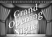 foto of curtains stage  - Grand opening night - JPG