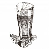 foto of drawing beer  - sketch - JPG