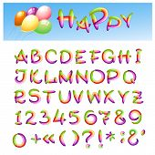 picture of symbol punctuation  - Hand draw alphabet made in kid style - JPG