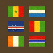 image of guinea  - Flags of Senegal Cape Verde Ivory Coast Sierra Leone Guinea and the Gambia - JPG