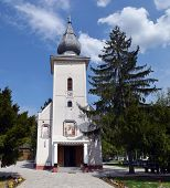 stock photo of sag  - old church Sag Monastery inTimisoara on a sunny day - JPG