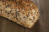 picture of whole-wheat  - Whole wheat loaf of bread with seeds - JPG